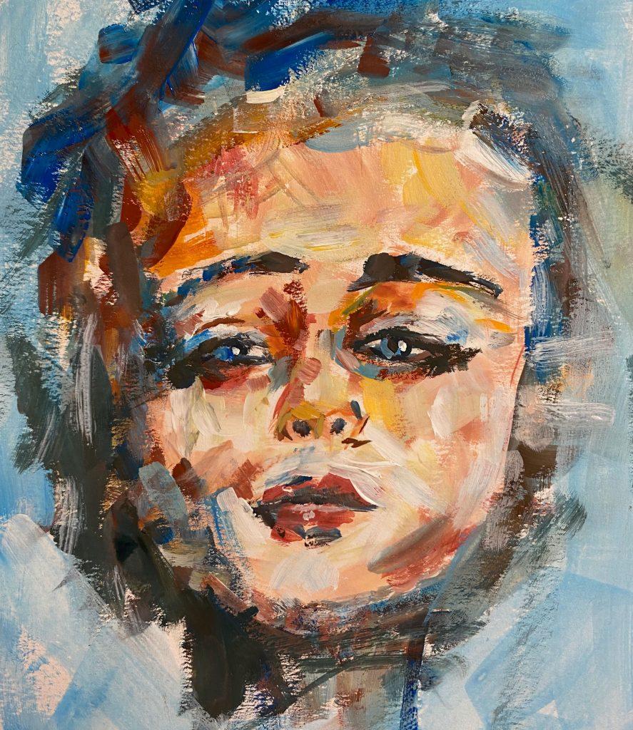 Girl in Gouache